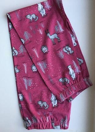 Хлопковая пижама от dn малиновая3