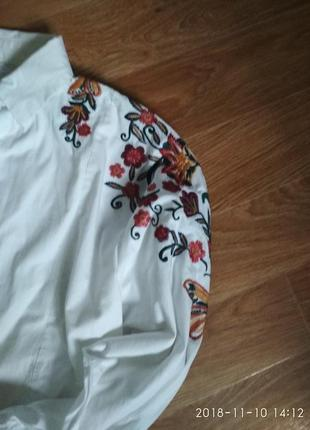 Укороченная рубашка с вышивкой4