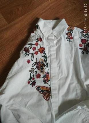 Укороченная рубашка с вышивкой3