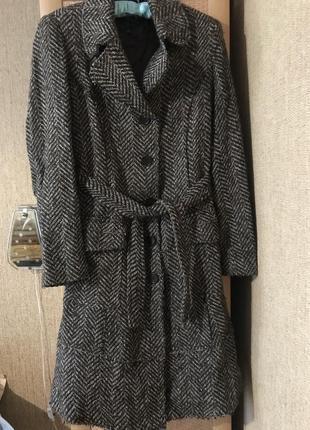 Пальто mango { пальто с поясом}