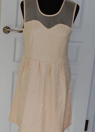 Платье бежевое телесное vila р-р л1