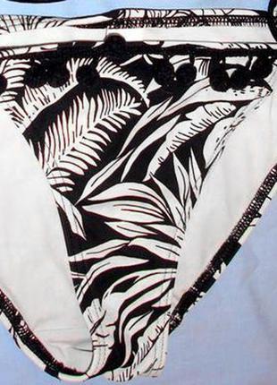 Низ от купальника раздельного женские плавки бикини размер 42-44 / 8 черный на завязках1