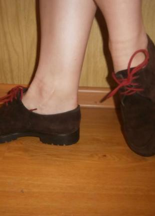 Стильные/мягусенькие ботиночки joy harper/нат.кожа/нат.замш/24,5 см1