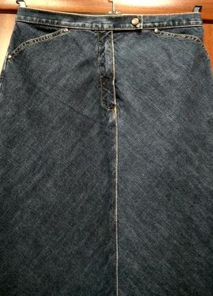 Классная джинсовая юбка в пол высокий рост р.10/121