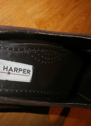 Стильные/мягусенькие ботиночки joy harper/нат.кожа/нат.замш/24,5 см4