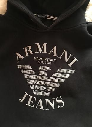 Толстовка свитшот худи armani jeans оригинал1