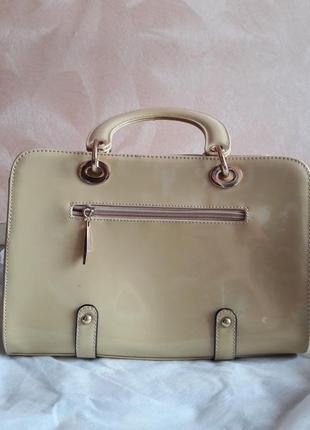Лаковая сумка в стиле диор))3