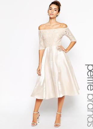 Платье миди с кружевным топом true decadence tall