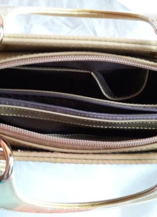 Лаковая сумка в стиле диор))4