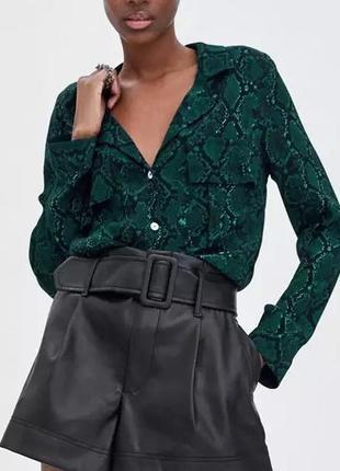 Крутые кожаные шорты бермуды высокая посадка1