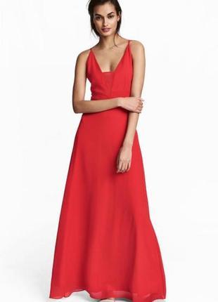Длинное платье из шифона h&m1