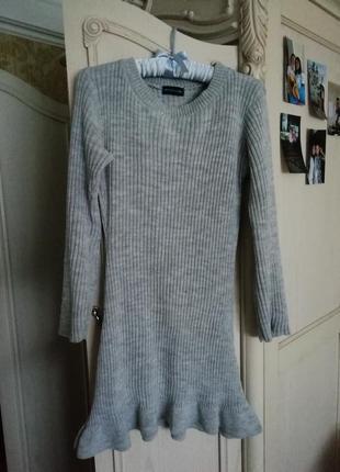 Вязаное платье3