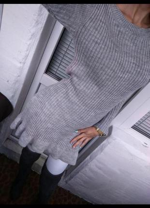 Вязаное платье4
