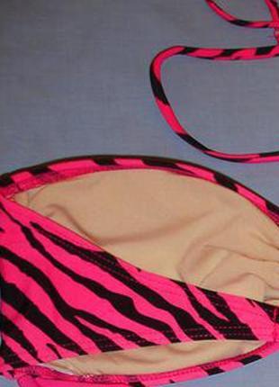 Верх от купальника раздельного топ лиф бюст чашка 80-85 в с розовый черный бандо4