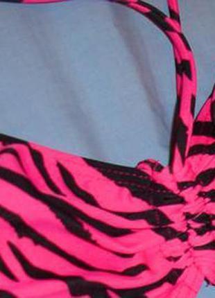 Верх от купальника раздельного топ лиф бюст чашка 80-85 в с розовый черный бандо3
