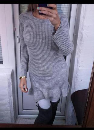 Платье вязаное2