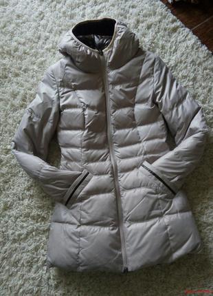 Пуховик женский пальто двусторонний коричневый бежевый куртка зима бойфренд2