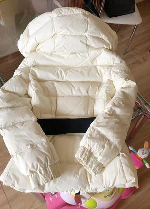 Теплый белый зимний пуховик4