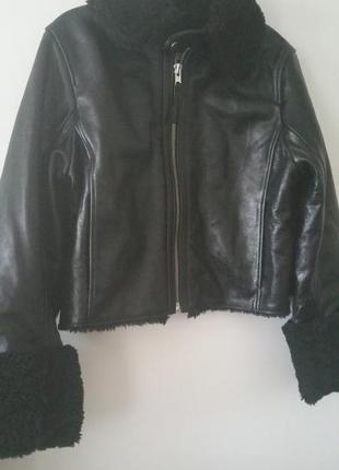 Куртка кожаная дубленка h&m1