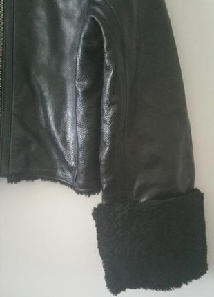 Куртка кожаная дубленка h&m2