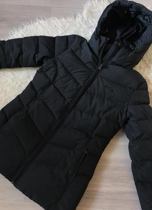 Куртка зимняя пуховая чёрная fila s2