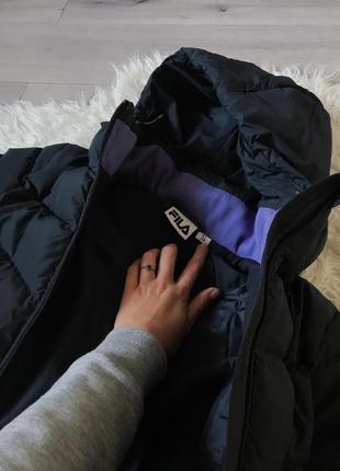 Куртка зимняя пуховая чёрная fila s3