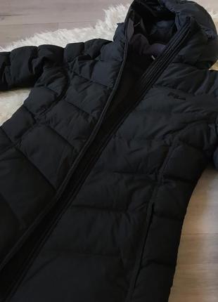 Куртка зимняя пуховая чёрная fila s4
