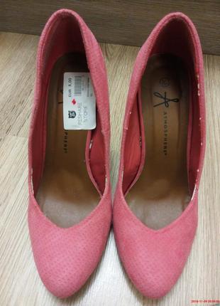 Туфли розовые на каблуке балетки замшевые тапочки на шпильке2