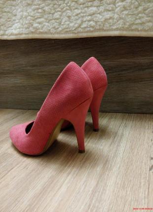 Туфли розовые на каблуке балетки замшевые тапочки на шпильке4