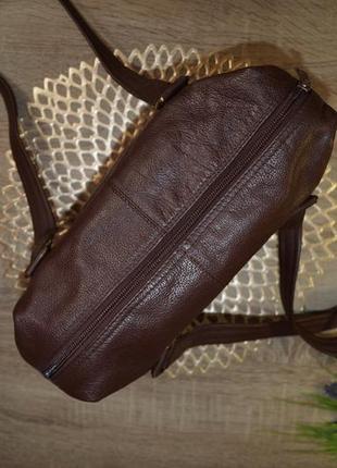 Bruno antonini! кожа! классная и практичная сумка средних размеров4