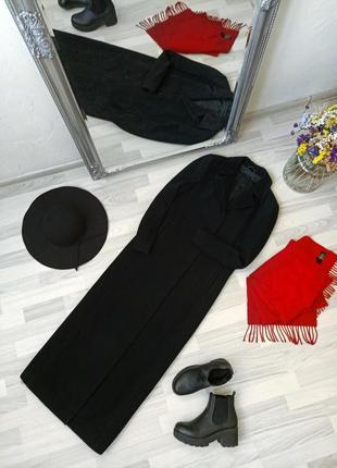 Элегантное длинное шерстяное пальто в пол sisley, 80% wool💖1