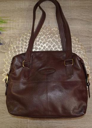 Bruno antonini! кожа! классная и практичная сумка средних размеров1