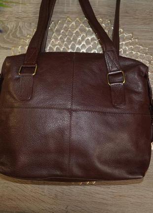 Bruno antonini! кожа! классная и практичная сумка средних размеров5