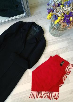 Элегантное длинное шерстяное пальто в пол sisley, 80% wool💖2