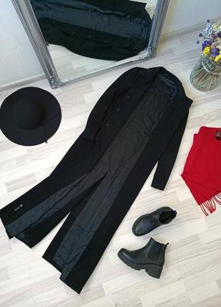 Элегантное длинное шерстяное пальто в пол sisley, 80% wool💖3