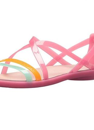 Босоножки crocs isabella cut strappy sandal раз.w9 - 26,5см1