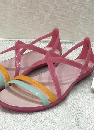 Босоножки crocs isabella cut strappy sandal раз.w9 - 26,5см2