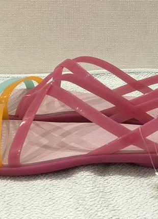 Босоножки crocs isabella cut strappy sandal раз.w9 - 26,5см3