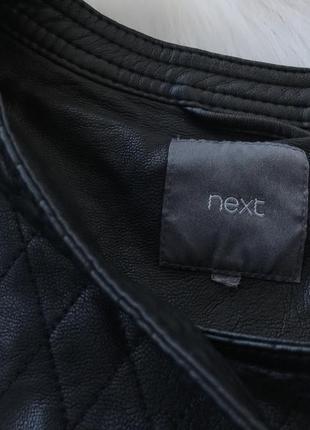 Крутейшая стеганая косуха куртка черная от next размер m-l3