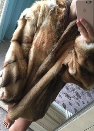 Шуба из натурального меха лисы, новая!1