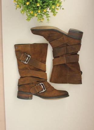 Замшевые сапоги полусапожки, натуральная замша, бренд spm shoes5