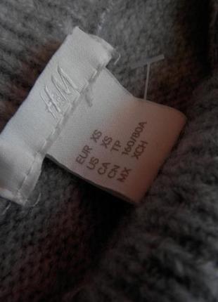 Уютное теплое платье миди оверсайз серого цвета с хомутом от h&m2