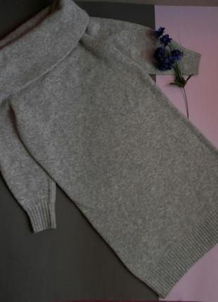 Уютное теплое платье миди оверсайз серого цвета с хомутом от h&m4