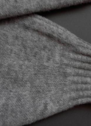 Уютное теплое платье миди оверсайз серого цвета с хомутом от h&m5