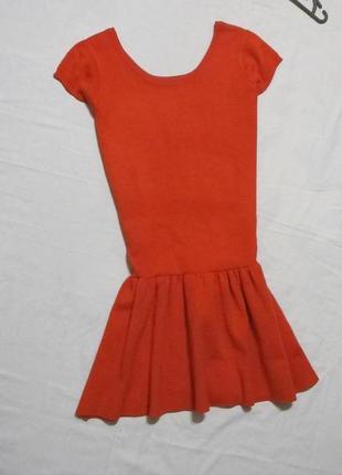 Бомбезное красное утеплённое платьишко2