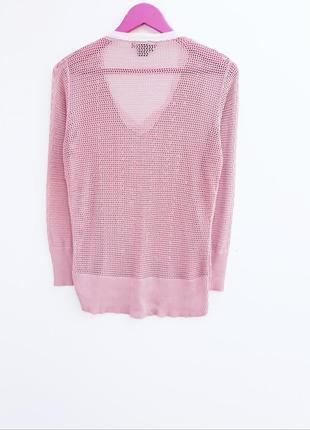 Пепельно розовый джемпер с шелком шелковый джемпер в составе натуральный шелк2