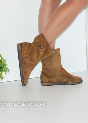 Замшевые ботинки полусапожки утеплены, натуральная кожа, бренд sansibar3