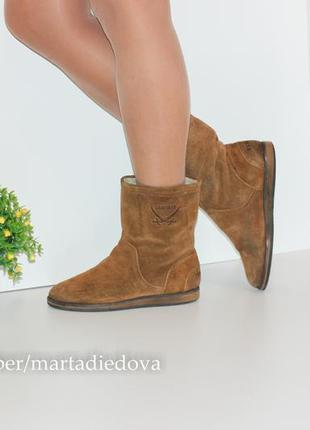 Замшевые ботинки полусапожки утеплены, натуральная кожа, бренд sansibar1