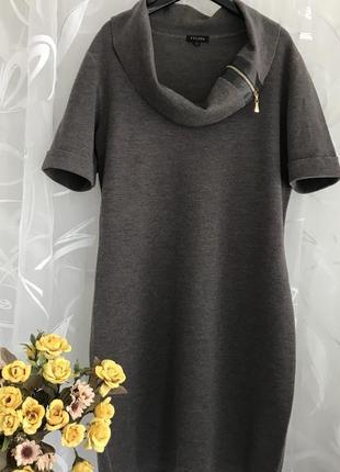 Люксовое ♥️👑♥️ шерстяное платье из шерсти escada, италия, m-l.1