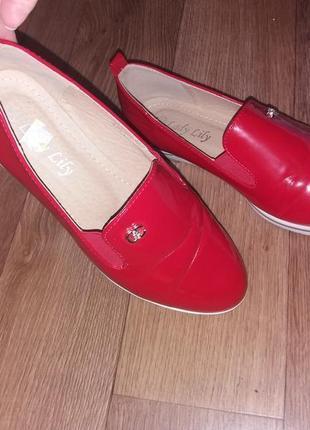 Кожаные лаковые туфли, лоферы2